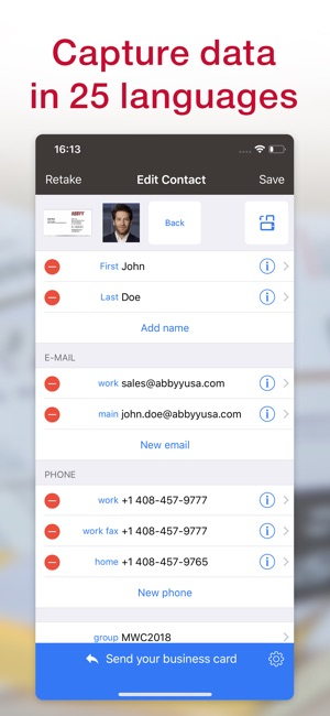 Business card scanner reader on the app store reheart Choice Image