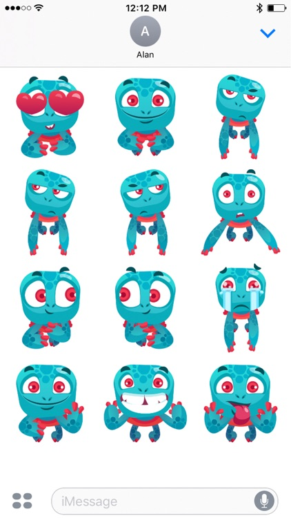 Alan The Turtle Stickers