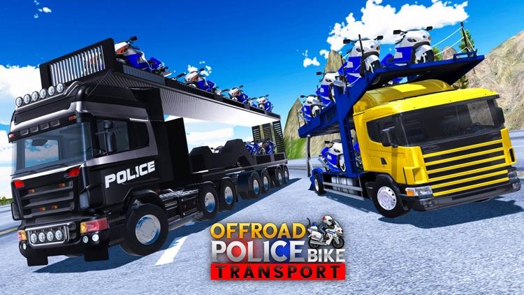 Police Bike Transporter Truck screenshot-3
