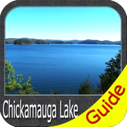 Chickamauga lake Tennessee GPS map fishing charts