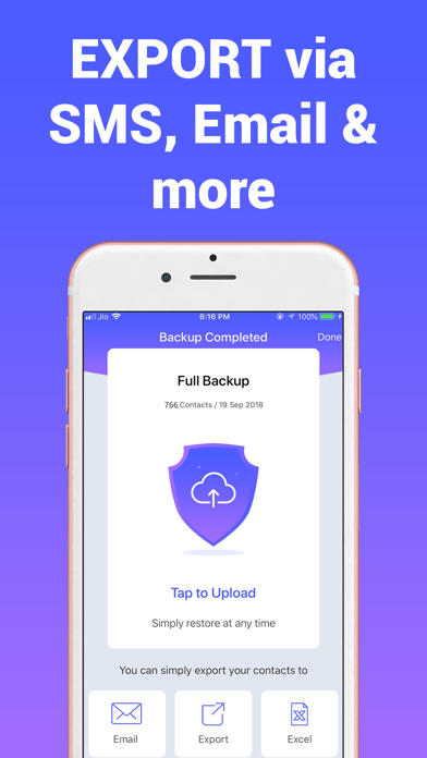 Contacts Cleanup & Save Export - App - iOS me