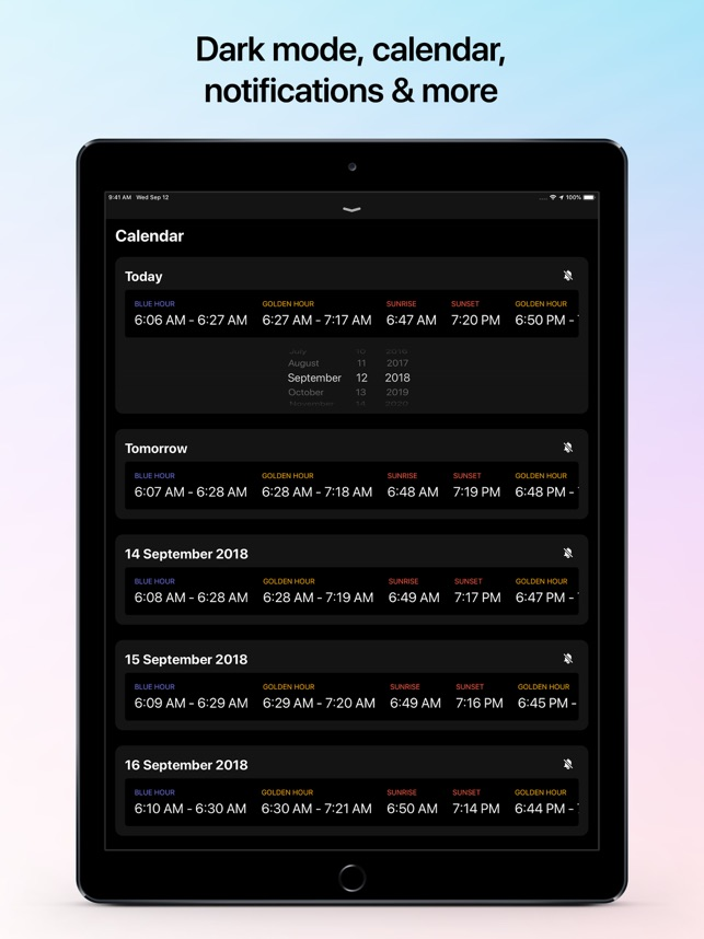 ‎Helios - Magic Hour Calculator Screenshot
