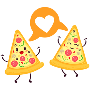 Pizza sticker pack I Love Pizza stickers app