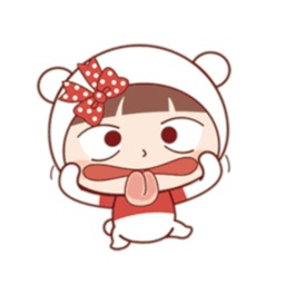 Little Cute Girl Sticker