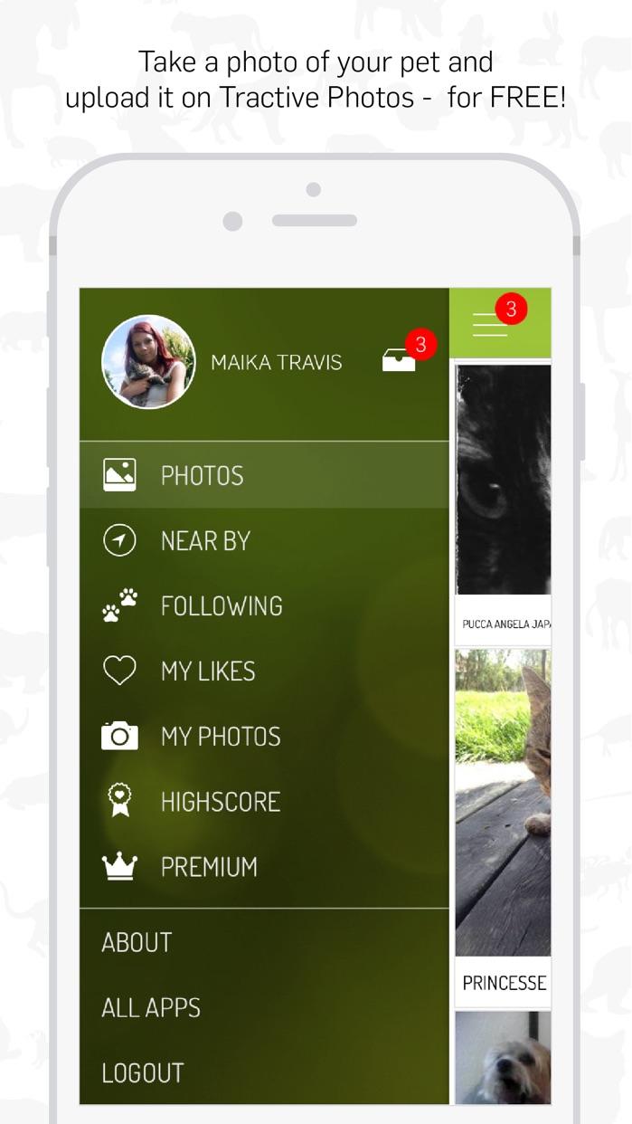 Tractive Photos Screenshot