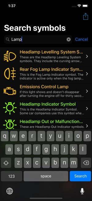 Car Dashboard Symbols Im App Store