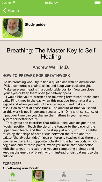 Breathing - Andrew Weil screenshot-3