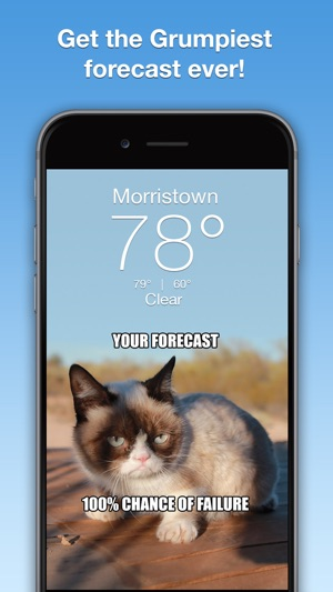 Grumpy Cat's Funny Weather on the App Store