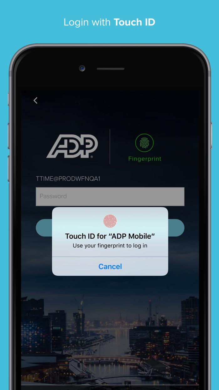 ADP Mobile Solutions Screenshot