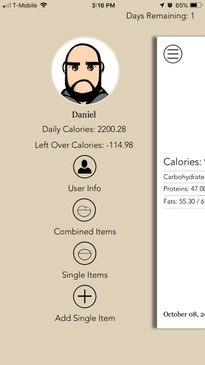 Life Nutrition Log screenshot-0