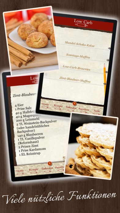 Screenshot for Low Carb Rezepte - Backbuch in Germany App Store