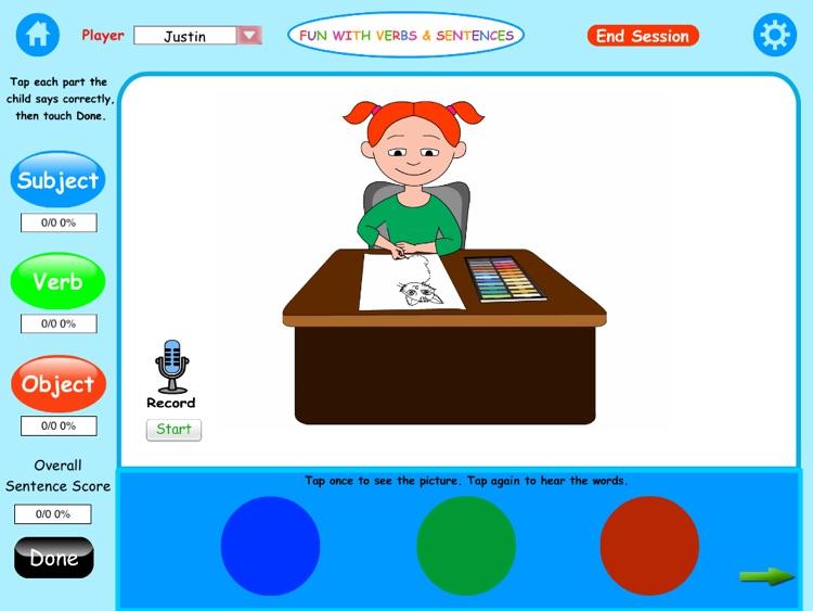 Fun Verbs & Sentences Lite HD screenshot-4