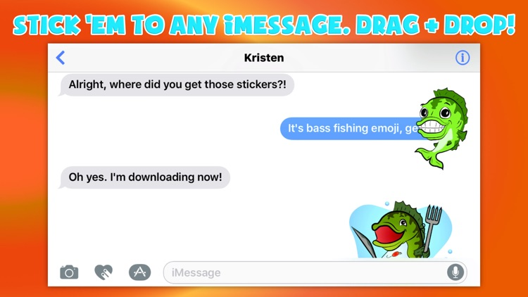 Bass fishing emoji by daniel larsen for Bass fishing apps