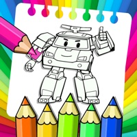 Robot car Police Coloring page