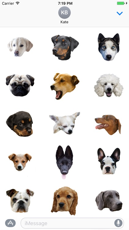 Dog Stickers (for iMessage)
