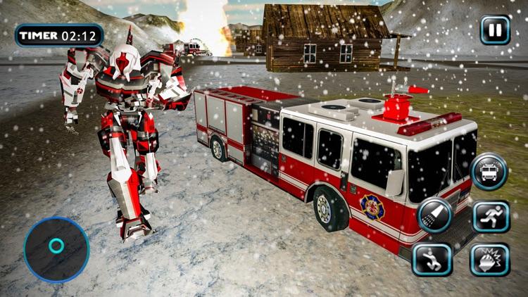 Fire Truck Robot Car Transform screenshot-4