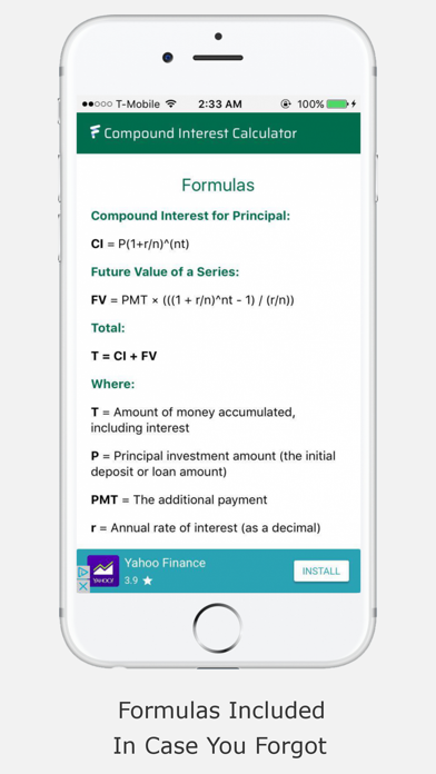 Compound Interest Calculator F screenshot four