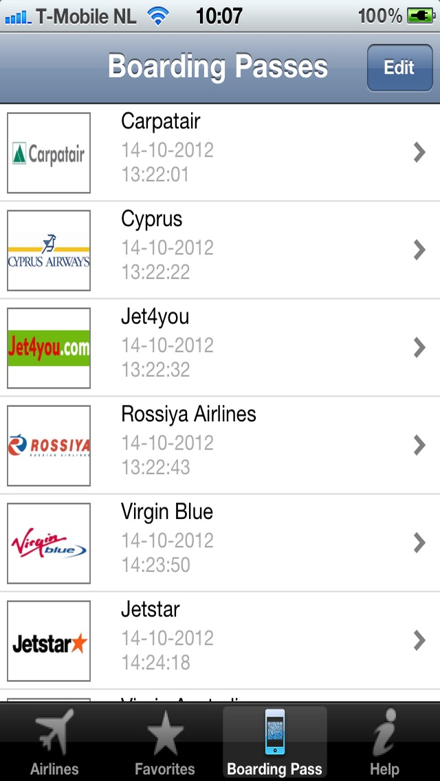 Screenshot for Airline Flight Check-In World in Portugal App Store