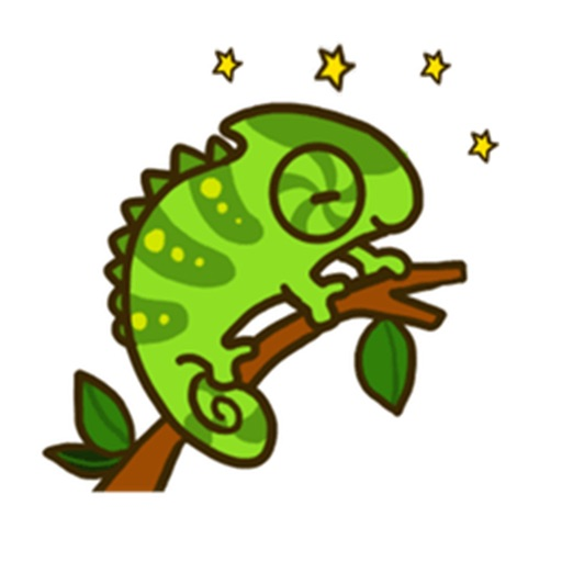 Cute Chameleon Sticker icon