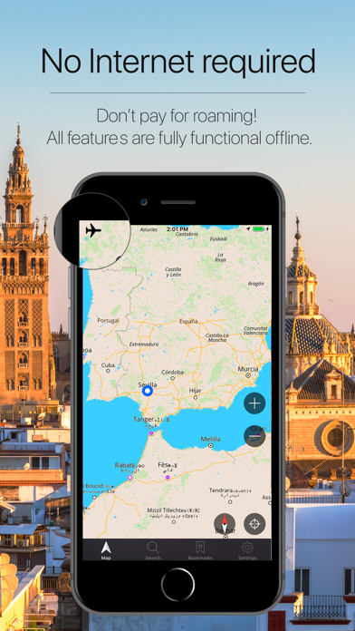 Andalusia Offline Navigation Screenshot