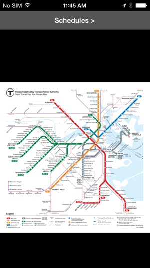 Boston Subway Map App.Mbta Boston T Transit Map On The App Store