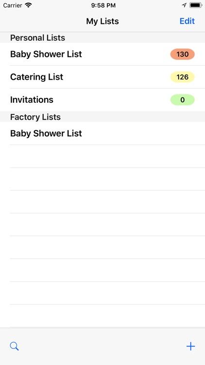 Baby Shower Checklist Pro