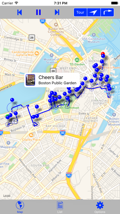 Boston Walking GPS Audio Tour Screenshots