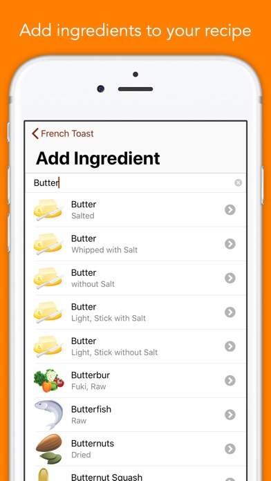 Screenshot for Nutrients - Nutrition Facts in United Arab Emirates App Store