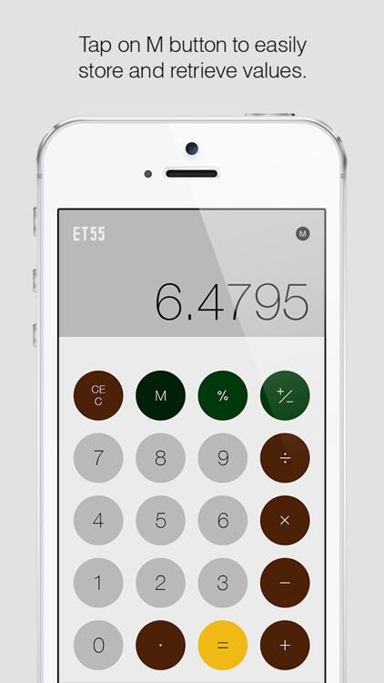 ET55: A Minimalist Calculator