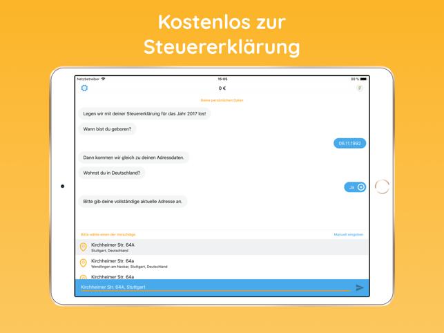 Steuerbot: Steuererklärung Screenshot