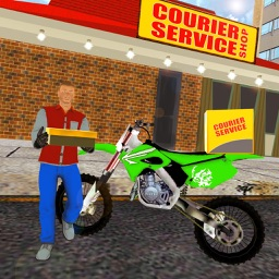 Courier Delivery Bike Rider 3D