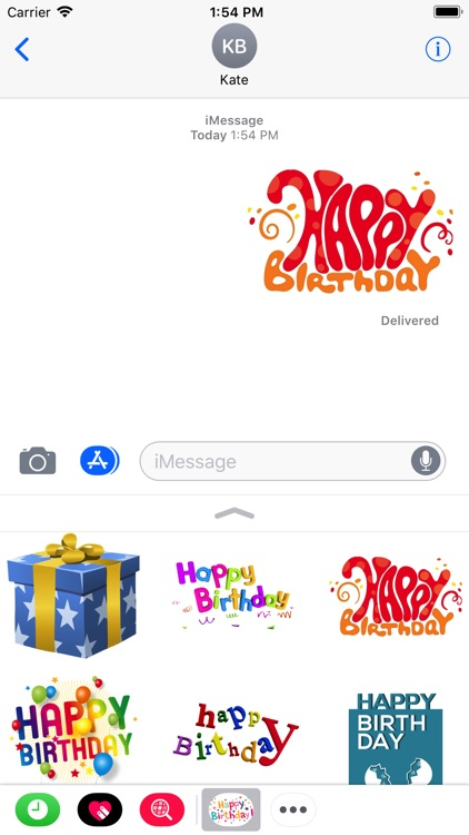 Happy Birthday Stickers 2017 screenshot-3
