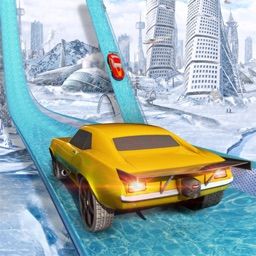 Mega Ramp Ice Racing Car Stunt