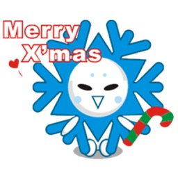 Cute Snowflake Emoji Sticker