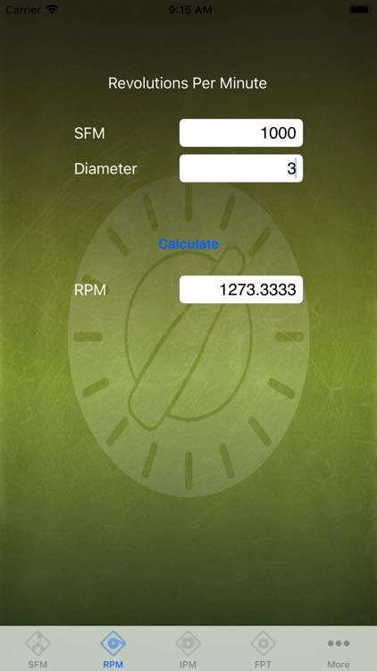 Feed Rate Calculator Lite