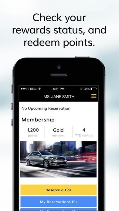 Hertz Car Rental review screenshots