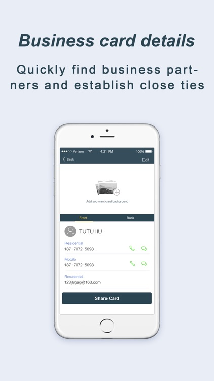 Samcard-business card scanner screenshot-4