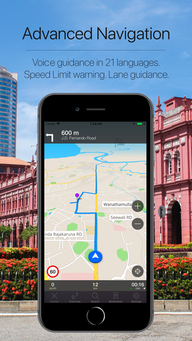 Screenshot for Sri Lanka Offline Navigation in Japan App Store
