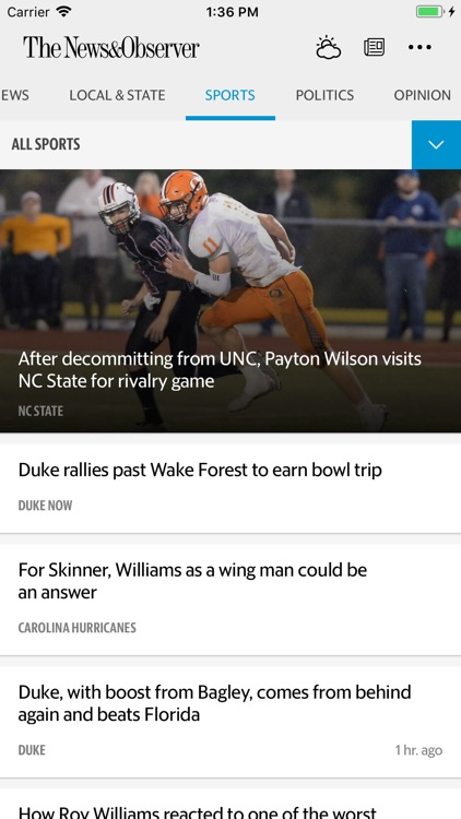 The Raleigh News & Observer screenshot-0
