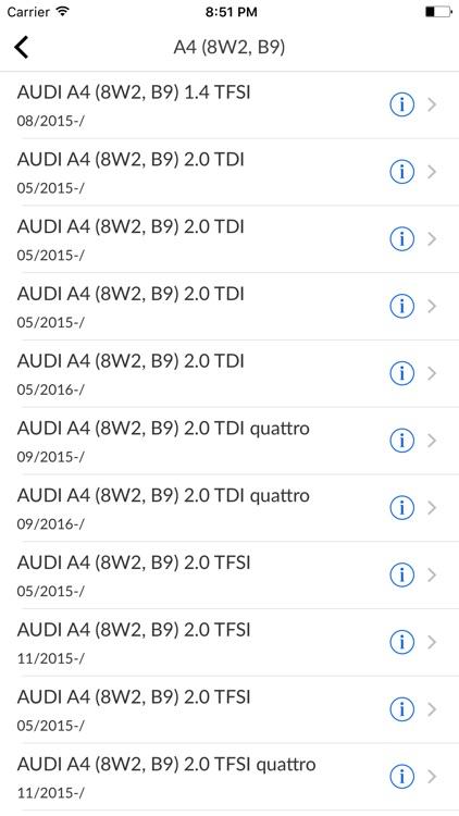 Car Parts for Audi diagrams screenshot-3