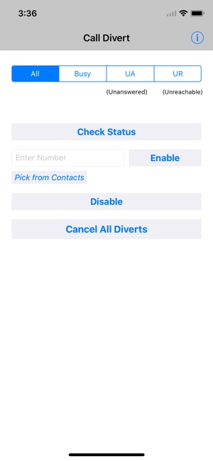 Divert Calls on the App Store