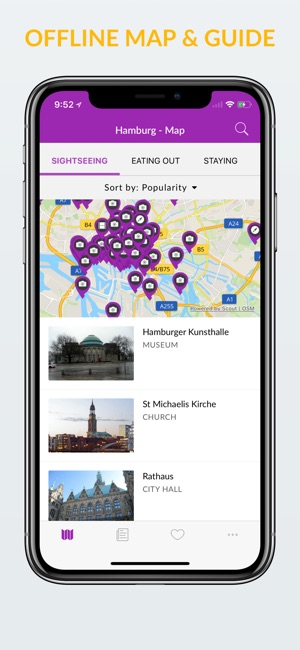 app store hamburg offline map guide. Black Bedroom Furniture Sets. Home Design Ideas