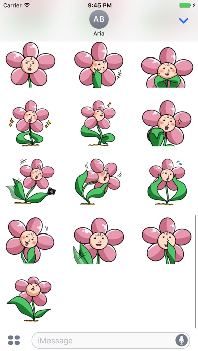Beautiful Ms. Flower Sticker screenshot 3