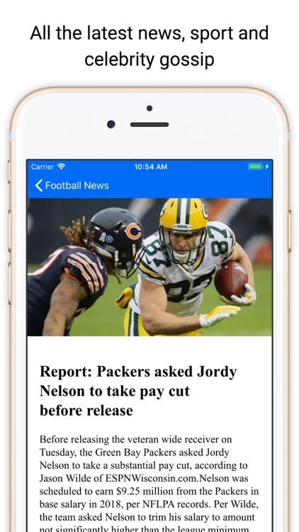 Touchdown News for NFL & CFB screenshot-3