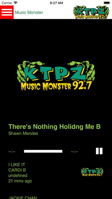 Music Monster 92.7 KTPZ screenshot one