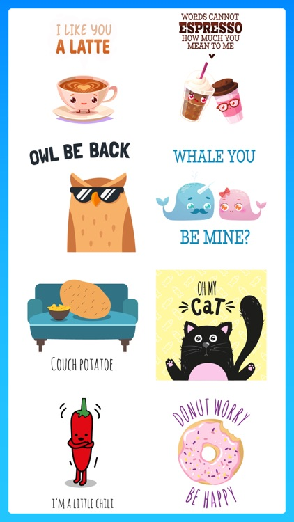 Tons of Puns Punny Stickers 1