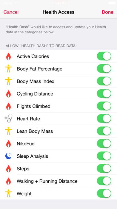 Dashboard for Apple Health App Screenshot on iOS