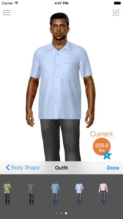 Model My Diet - Men - Weight Loss Motivation screenshot-3