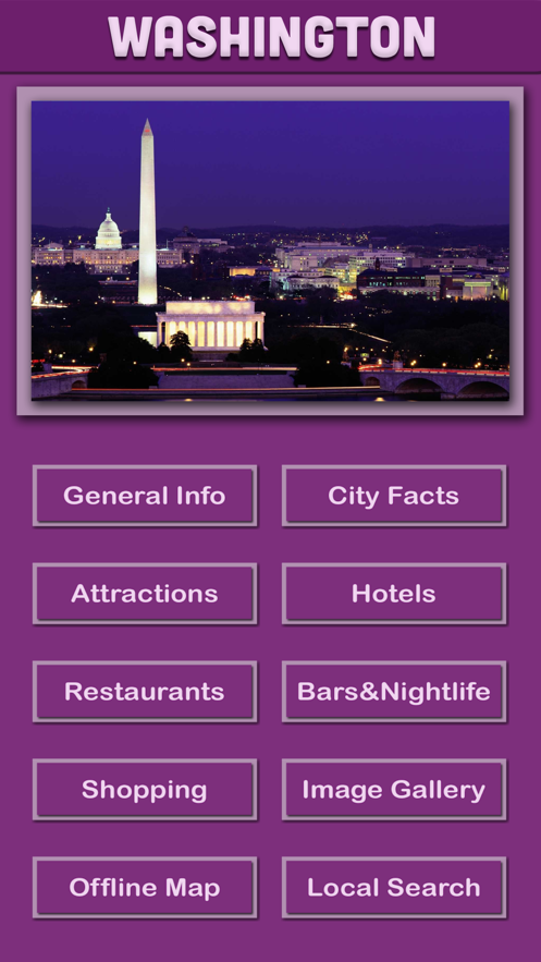 Washington Offline Tourism App 截图
