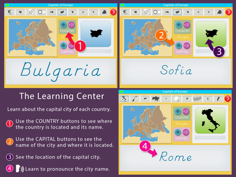 Capitals of Europe - Montessori Geography for Kids - náhled
